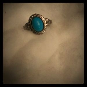 Jewelry - 💙 vintage sterling espo turquoise ring